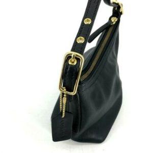 Coach Bags - Coach Small Purse Black Leather Baguette Hobo EUC